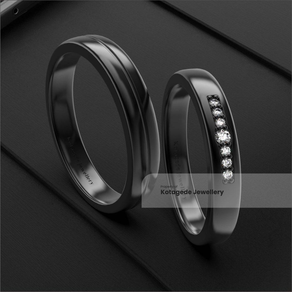 cincin kawin platidium hitam simple