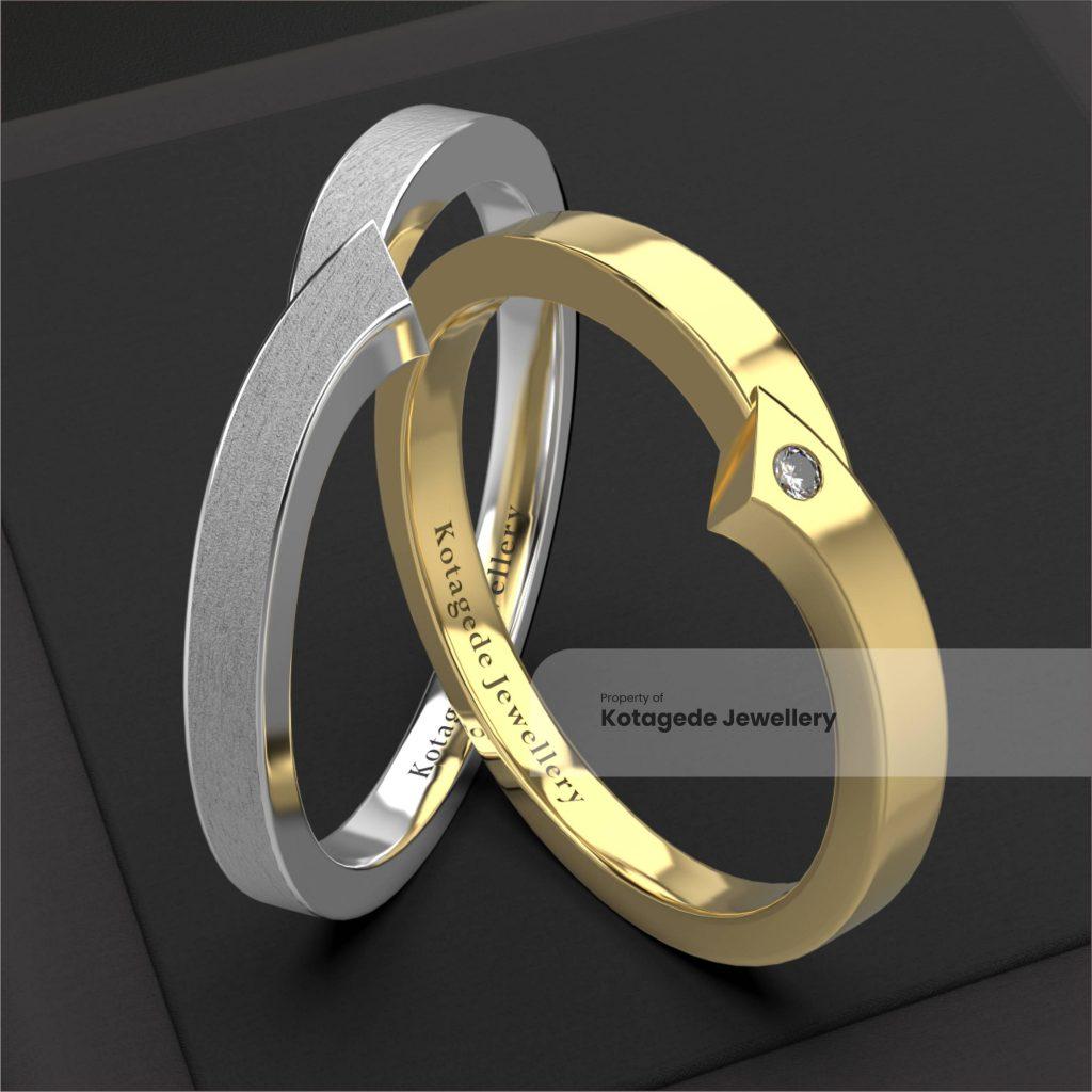 cincin kawin platidium unik simple